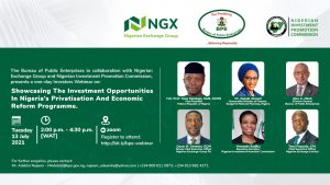 Showcasing the Investment Opportunities in the Nigeria's Privatisation and Economic Reform Programme @ Zoom